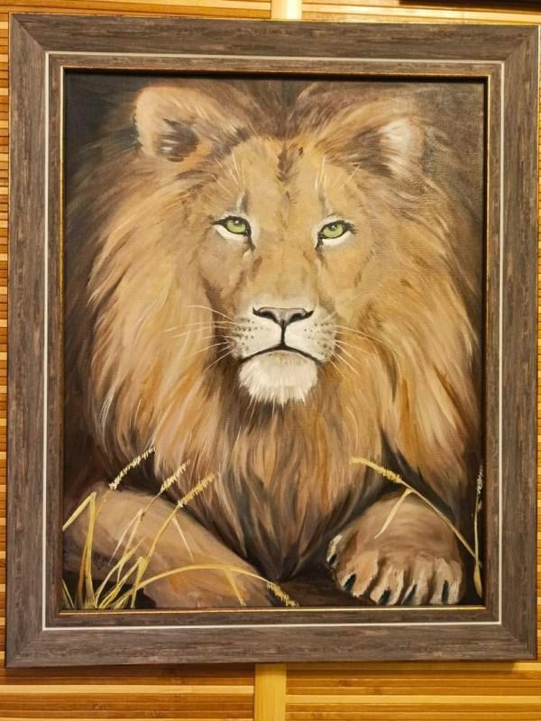 Картина льва под заказ