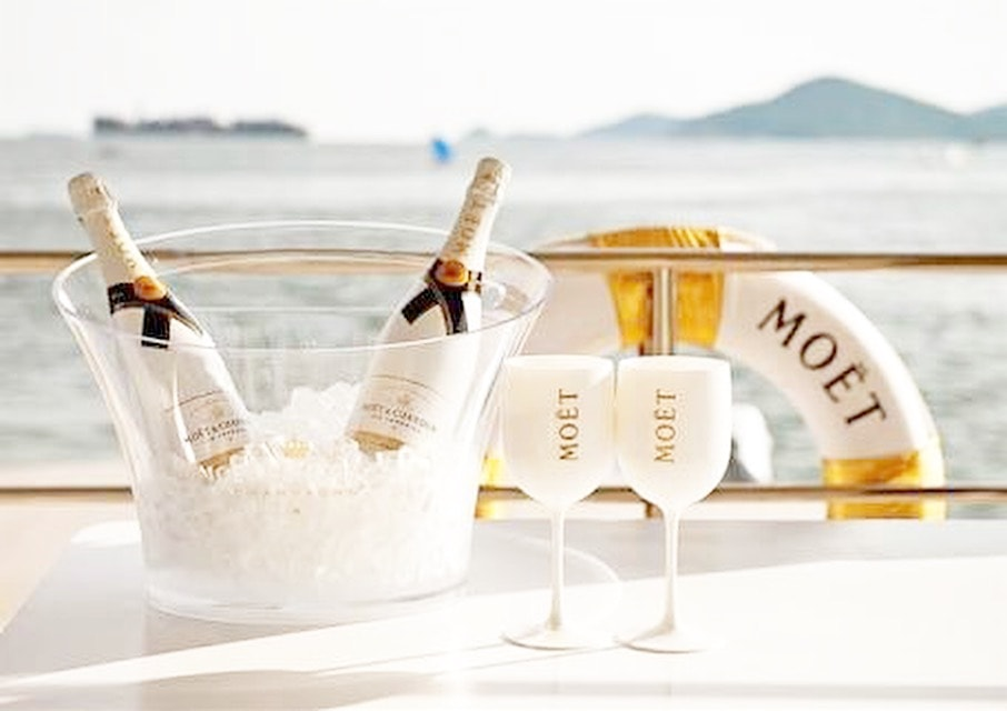 Wines and Champagnes on board