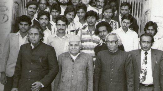 Poet_Kaifi_Azmi,Mr.Fakhruddin,Prof._Desnavi,Prof_Afaq_Husain_Siddiqui