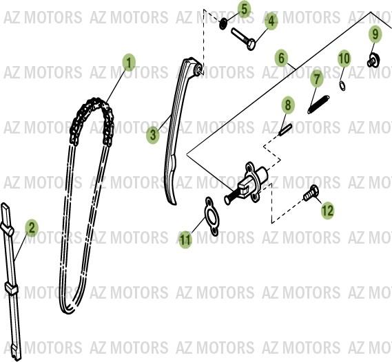 Pièces Alp 200cc [2008] Pièces détachées neuves d'origine