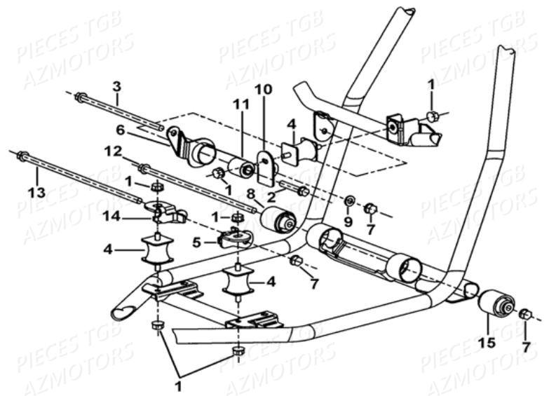 Pieces TGB BLADE 400/425 (Concerne les No serie RFCFBEFBA
