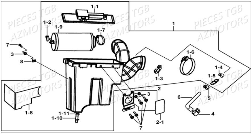 Pieces TGB BLADE 550 LT EPS Pièces détachées neuves d