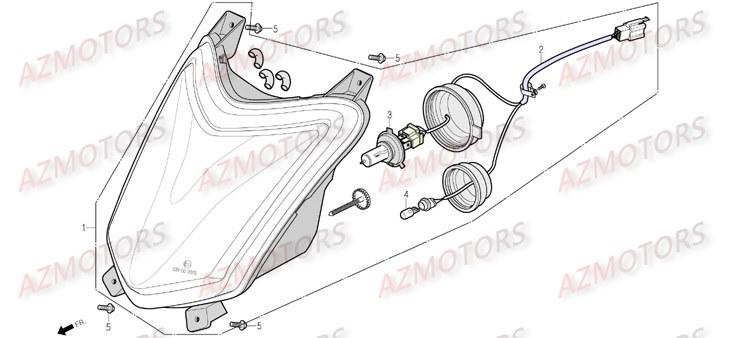 Pièces Scooter DAELIM S 4 50cc 4T Pièces détachées neuves