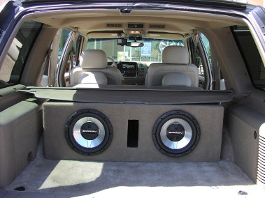 Car Audio System - Subwoofers in Trunk