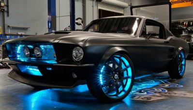 Custom LIghting - Classic Mustang with Blue LED Underglow