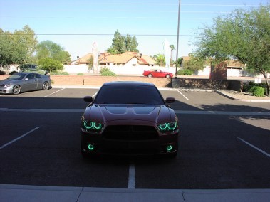 Custom Lighting - Red Charger with Green Lights
