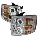 AZ Motor Trendz: SPEC-D Tuning 4LHP-SIV07-KS Chrome CCFL Halo LED Projector Headlights