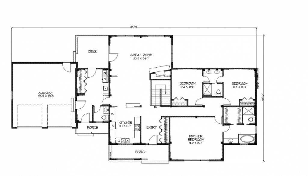 Cr2880 Main Floor Plan. Unique Ranch House Plans. Awesome
