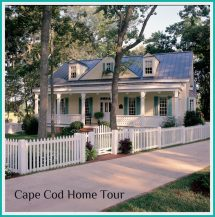 Cape Cod Style House with Fence