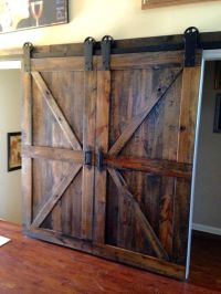 Double Barn Doors Interior - New Home Plans Design