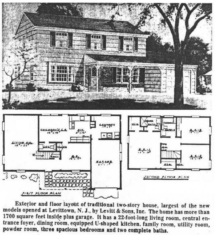 Great Levitt Homes Floor Plan