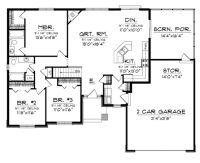Elegant Simple Open Floor Plan Homes - New Home Plans Design