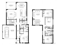House Plans 4 Bedroom 2 Story Home Plans For Entertaining ...