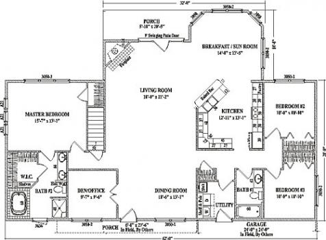 Beautiful Open Floor Plans Ranch Homes