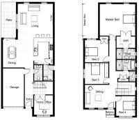 Luxury Sample Floor Plans 2 Story Home - New Home Plans Design