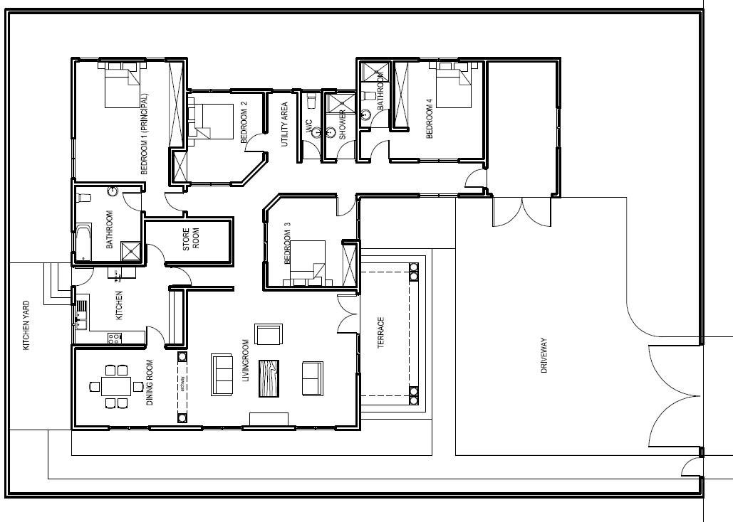 Elegant Ground Floor Plan for Home
