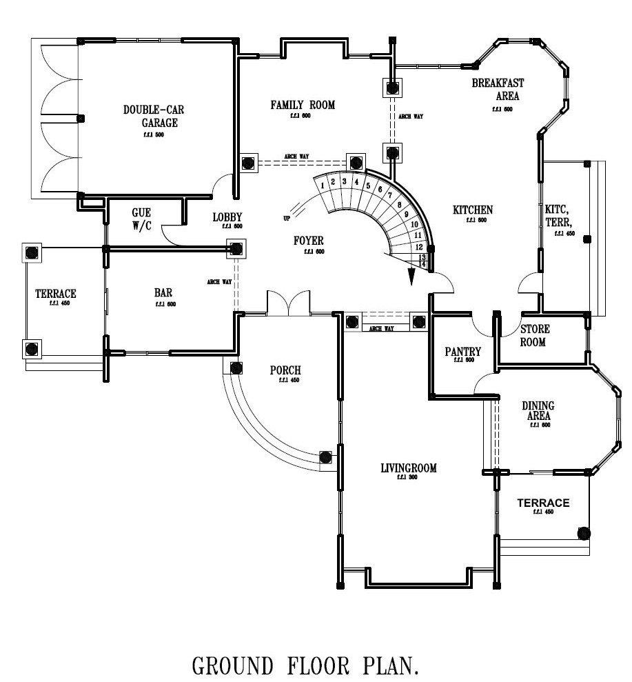 Ground Floor Plan for Home Luxury Ghana House Plans Ghana