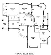 Ground Floor Plan for Home Luxury Ghana House Plans Ghana