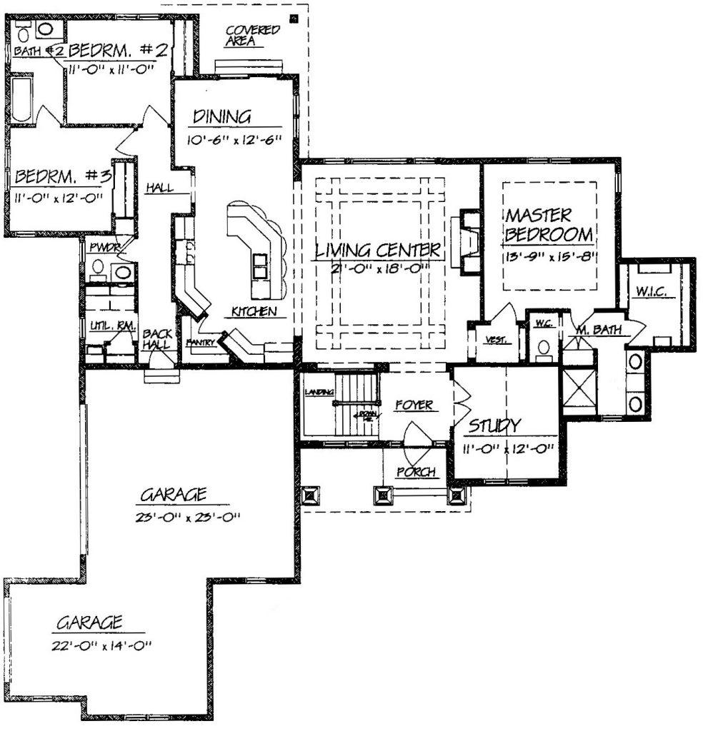 Single story open floor plans for Migliori open plan 2017