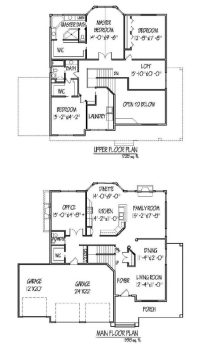 Elegant Two Story Home Plans with Open Floor Plan - New ...