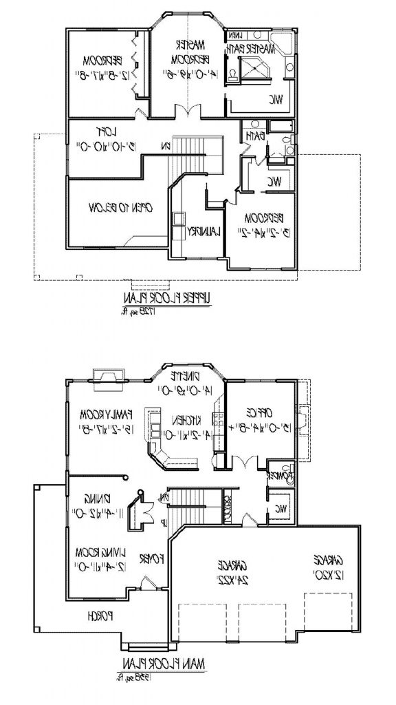 Two Story Home Plans with Open Floor Plan Inspirational