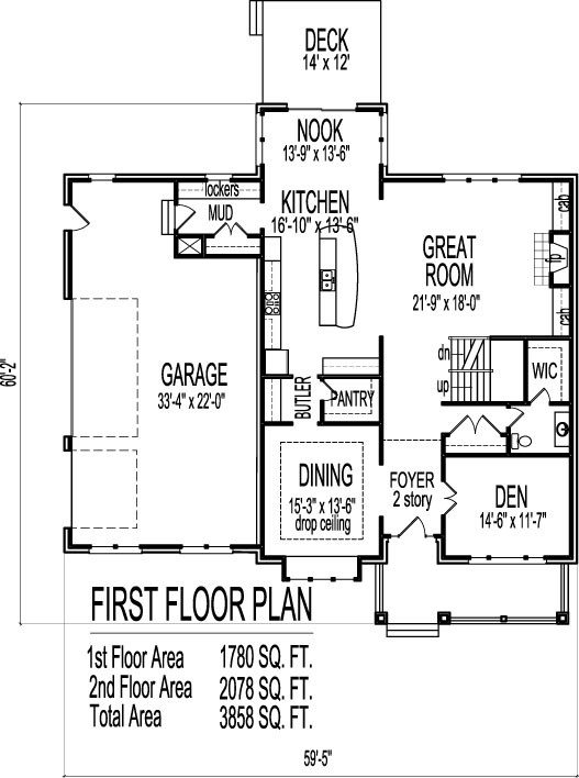 Elegant Two Story Home Plans with Open Floor Plan