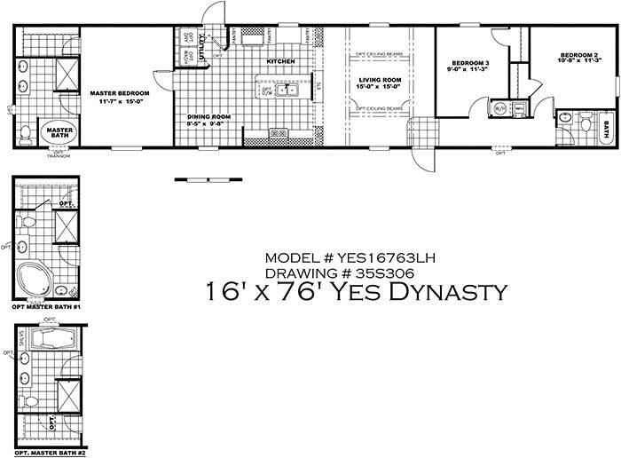 Unique 16 X 80 Mobile Home Floor Plans New Home Plans Design