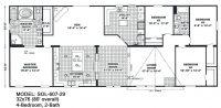 4 Bedroom Double Wide Mobile Home Floor Plans Unique ...