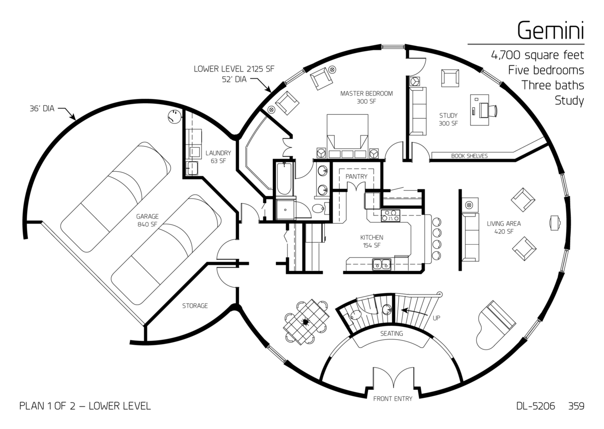 Beautiful Monolithic Dome Homes Floor Plans  New Home