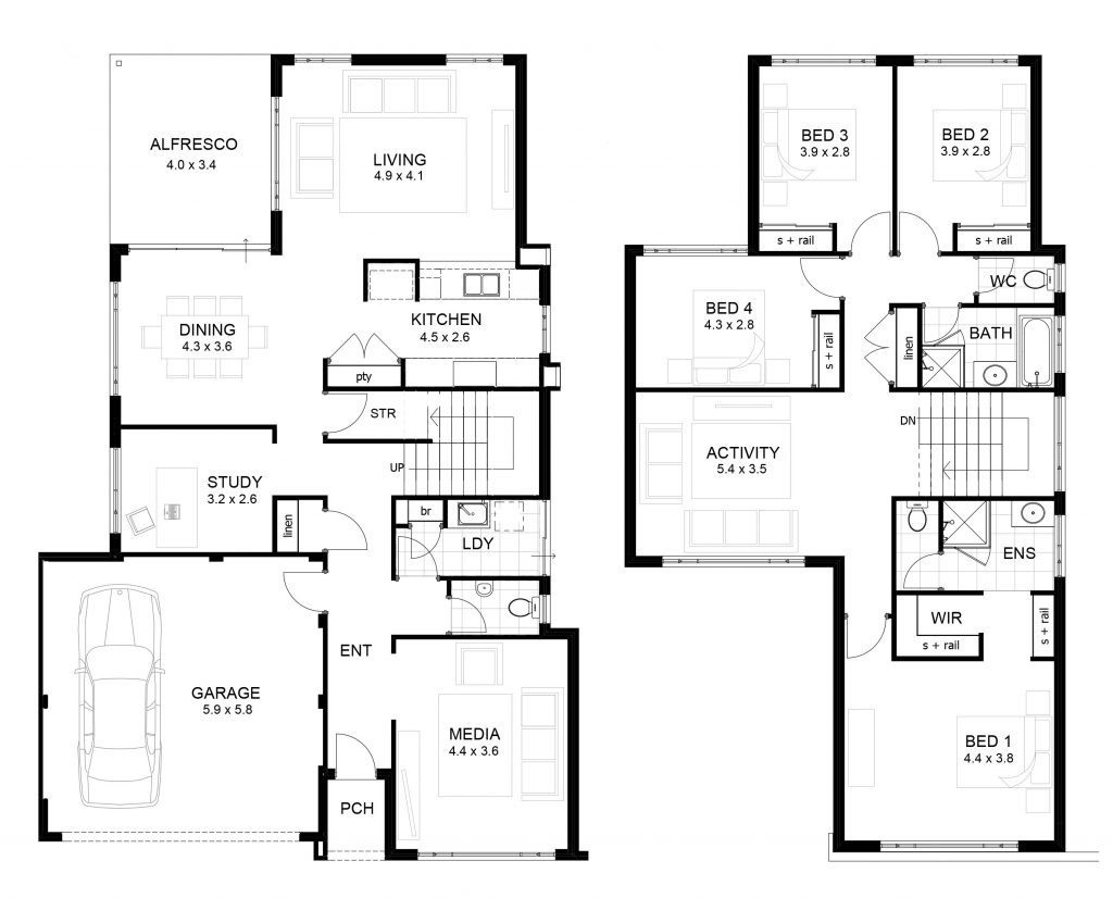 Lovely Sample Floor Plans 2 Story Home