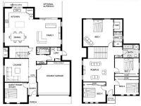 Lovely Sample Floor Plans 2 Story Home - New Home Plans Design