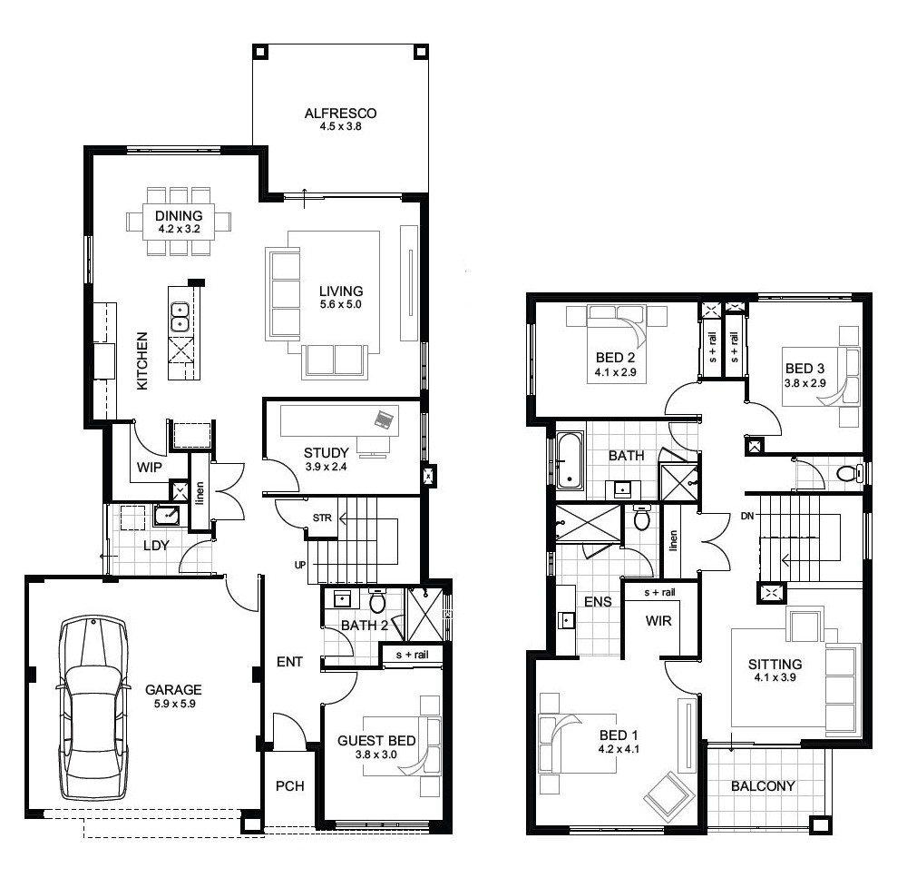 Sample Floor Plans 2 Story Home Unique Double Storey 4