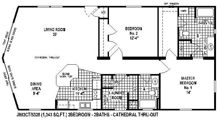 2 Manufactured Plans 2005 Homes Bedrooms Skyline Floor