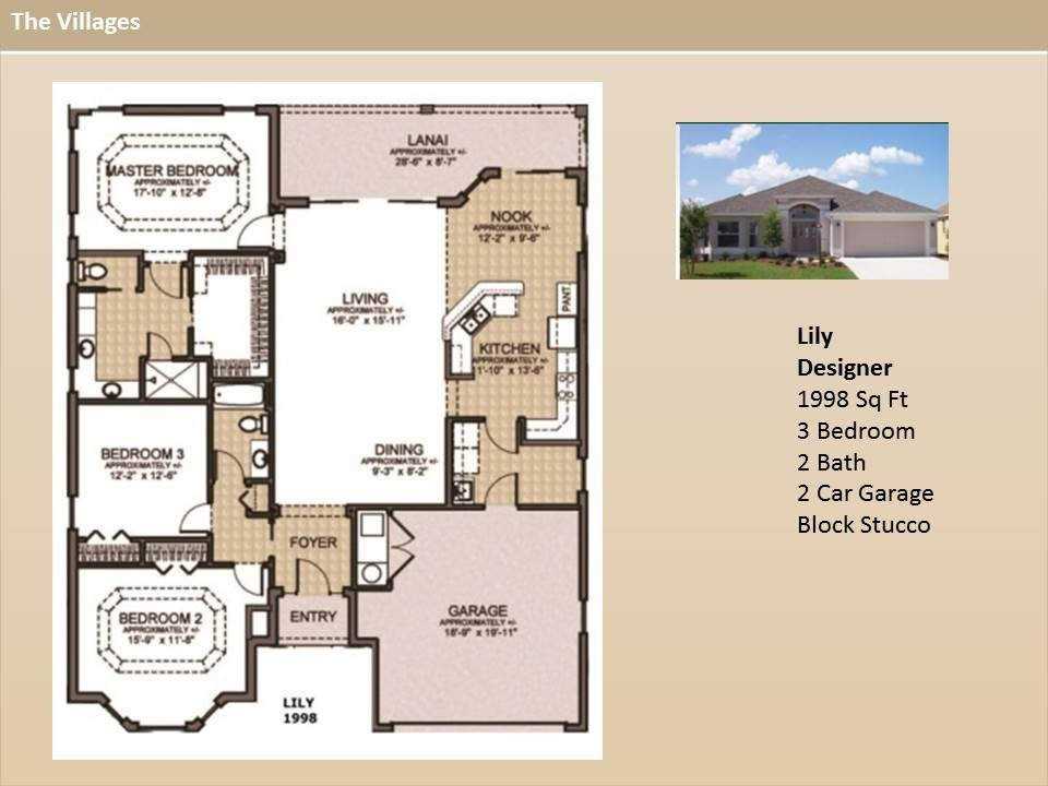 Beautiful the Villages Home Floor Plans  New Home Plans