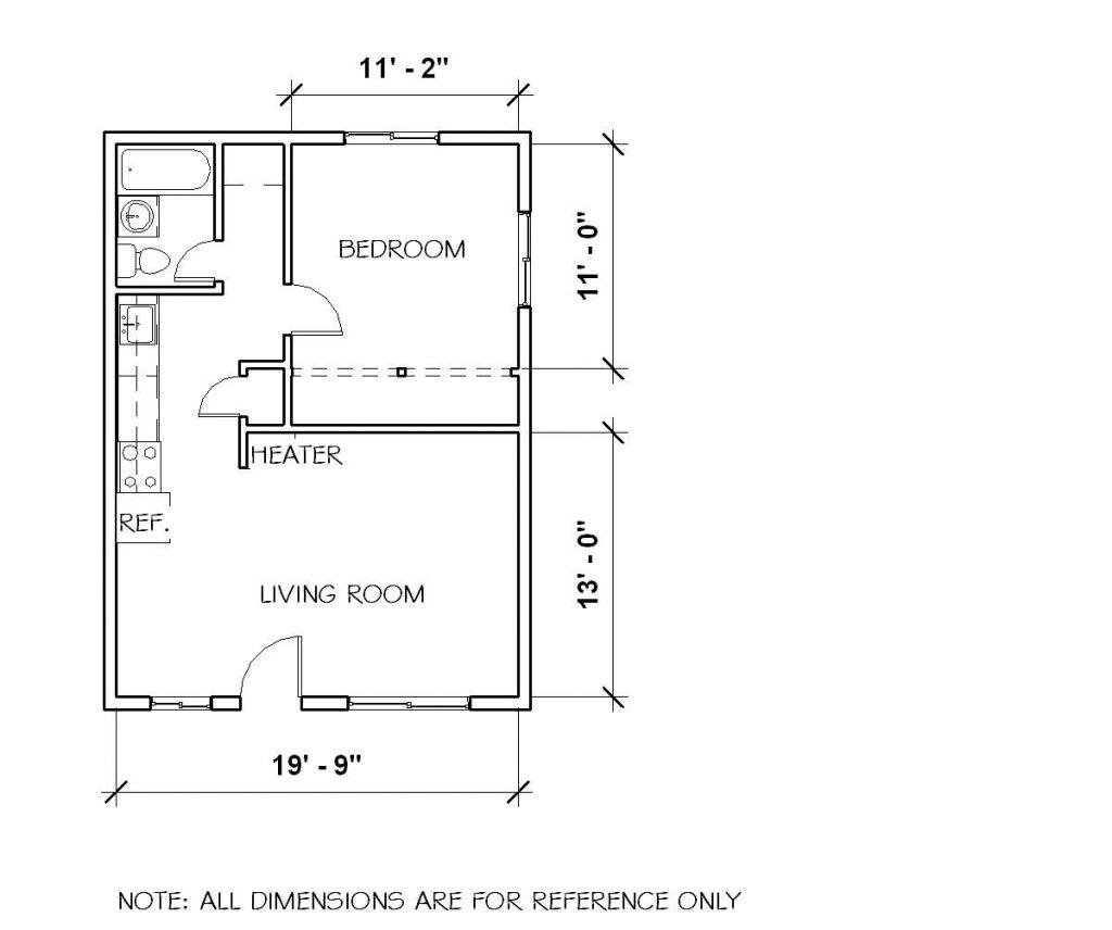 Elegant 1 Bedroom Duplex House Plans