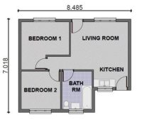 3 Bedroom Apartment Floor Plan With Dimensions - Small ...