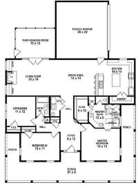 Elegant 2 Bedroom House Plans with Wrap Around Porch
