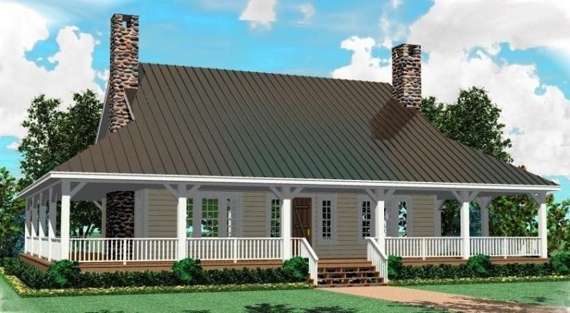 Elegant 2 Bedroom House Plans with Wrap Around Porch