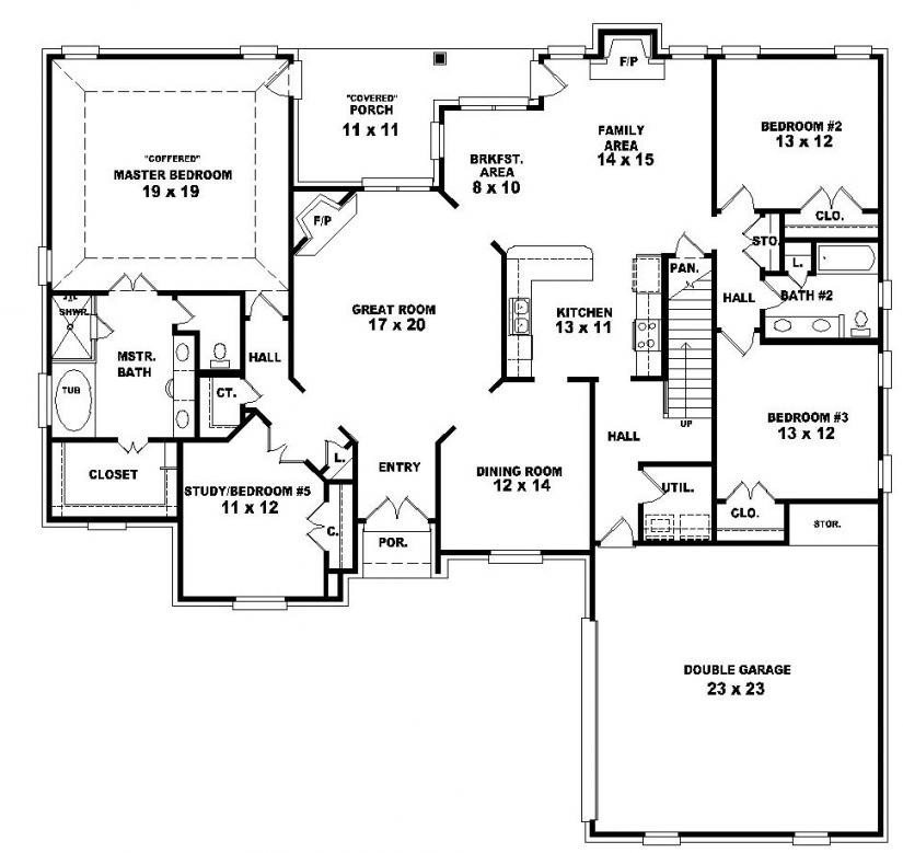 2 Story 4 Bedroom House Floor Plans Fresh Two Story 4