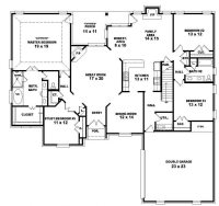 2 Story 4 Bedroom House Floor Plans Fresh Two Story 4 ...