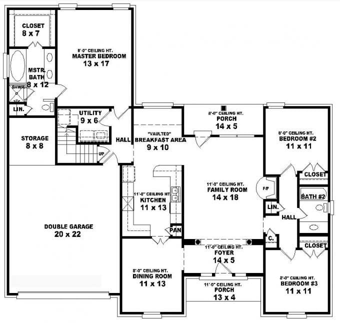 11 1 Story 3 Bedroom House Plans That Will Steal The Show