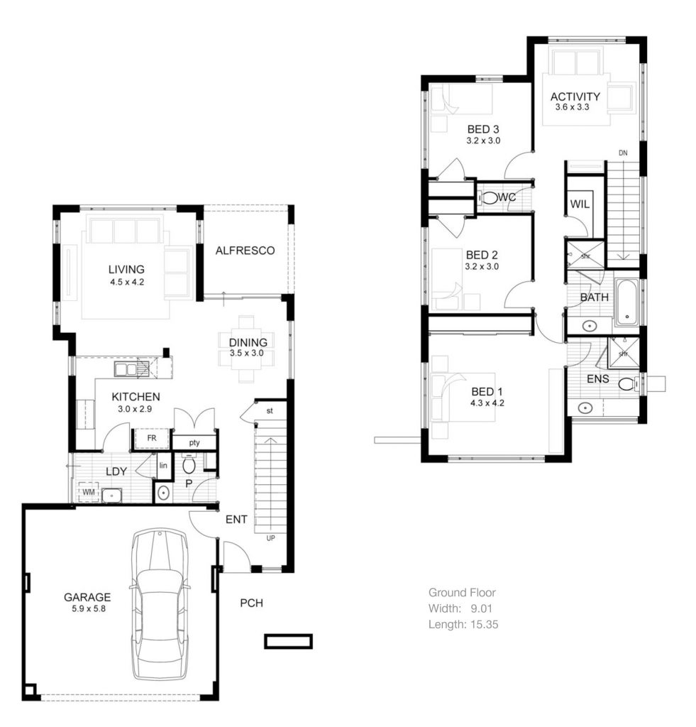 3 Bedroom 2 Storey House Plans Elegant 3 Story House Plans