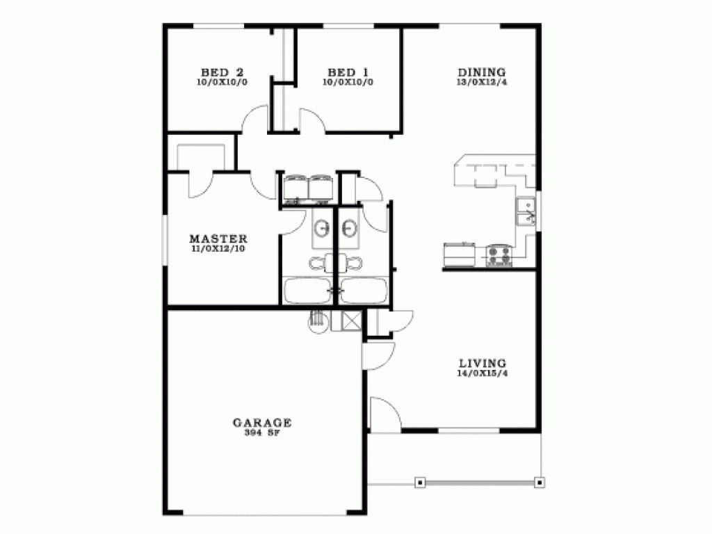 3 bedroom bungalow floor plan | Psoriasisguru.com