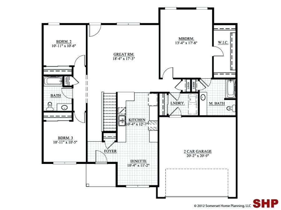 3 Bedroom House Plans No Garage Lovely E Story House Plans