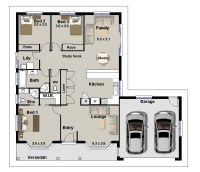 3 Bedrooms House Plans Designs Luxury Awesome 3 Bedroom ...