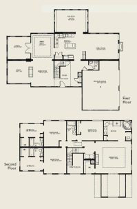 Beautiful 4 Bedroom 2 Storey House Plans