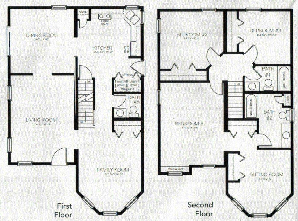 Beautiful 4 Bedroom 2 Storey House Plans