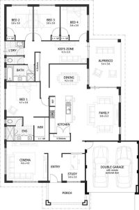Lovely 4 Bedroom Floor Plans for A House - New Home Plans ...