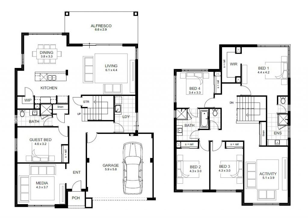 Beautiful 5 Bedroom Double Storey House Plans  New Home
