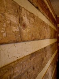 Elegant Faux Log Cabin Walls - New Home Plans Design